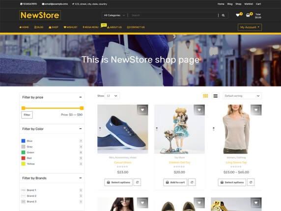 wordpress тема NewShop eCommerce