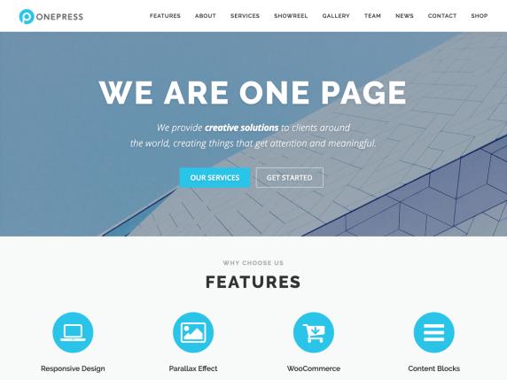 wordpress тема OnePress