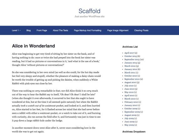 wordpress тема Scaffold