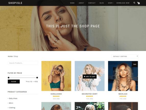 wordpress тема ShopIsle