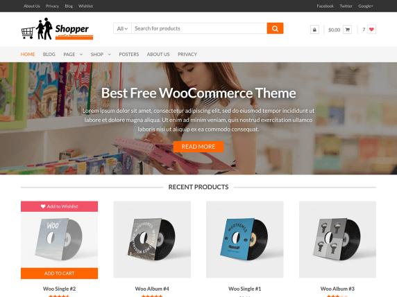 wordpress тема Shopper