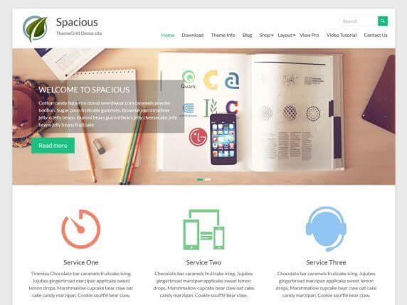 wordpress тема Spacious
