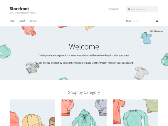 wordpress тема Storefront