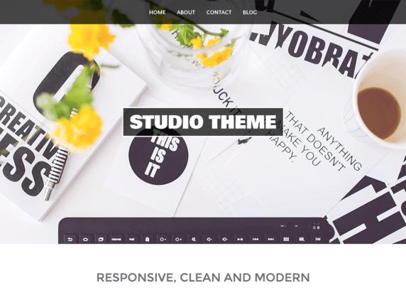 wordpress тема Studio