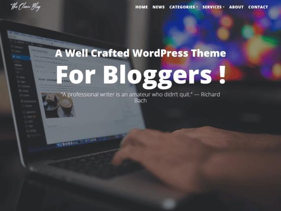 wordpress тема The Clean Blog