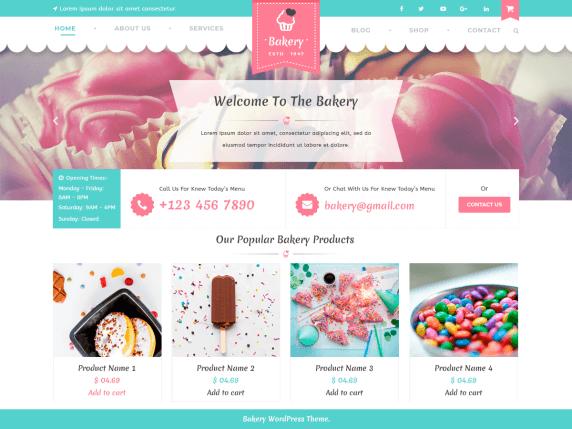 wordpress тема VW Bakery