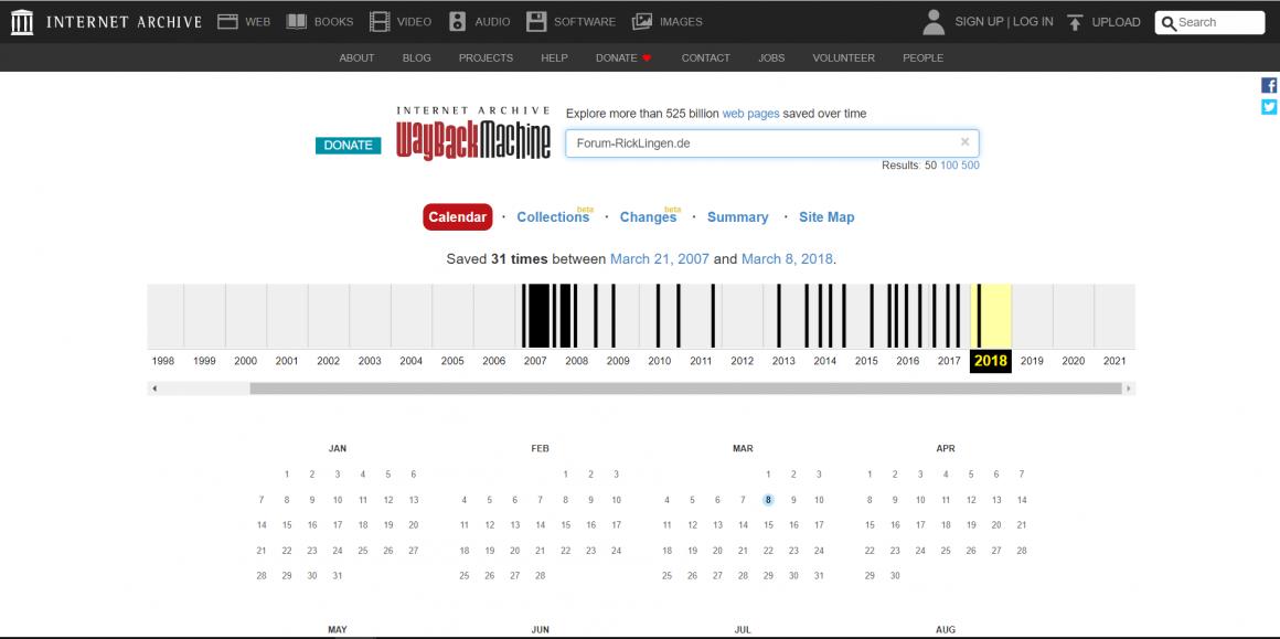 пошук кинутих доменів в веб-архіві