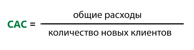 формула расчета CAC