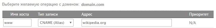 DNS-менеджмент. Добавление CNAME-записи