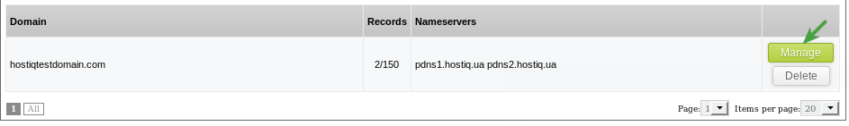 How to use our public DNS SolusVM view domain menu