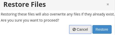 Восстановление файлов из бэкапа в cPanel