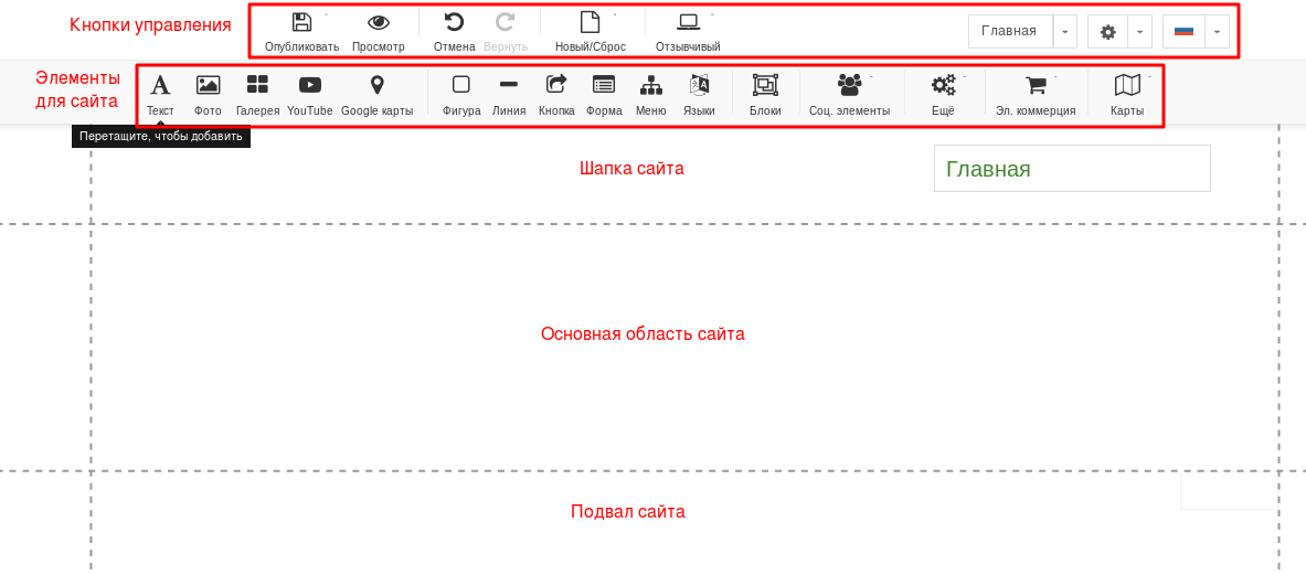 Кнопки настроек и элементы для сайта