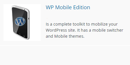 Логотип плагина WP Mobile Edition