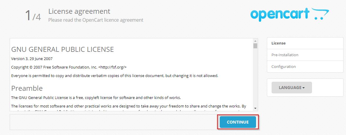 Opencart настройки хостинга цены на хостинг ru