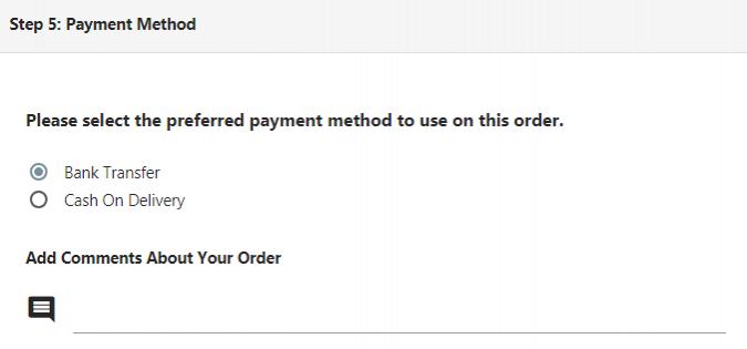 Выбоор метода оплаты на форме заказа в Opencart
