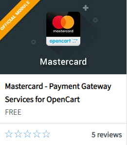 Модуль оплаты Mastercard в Opencart