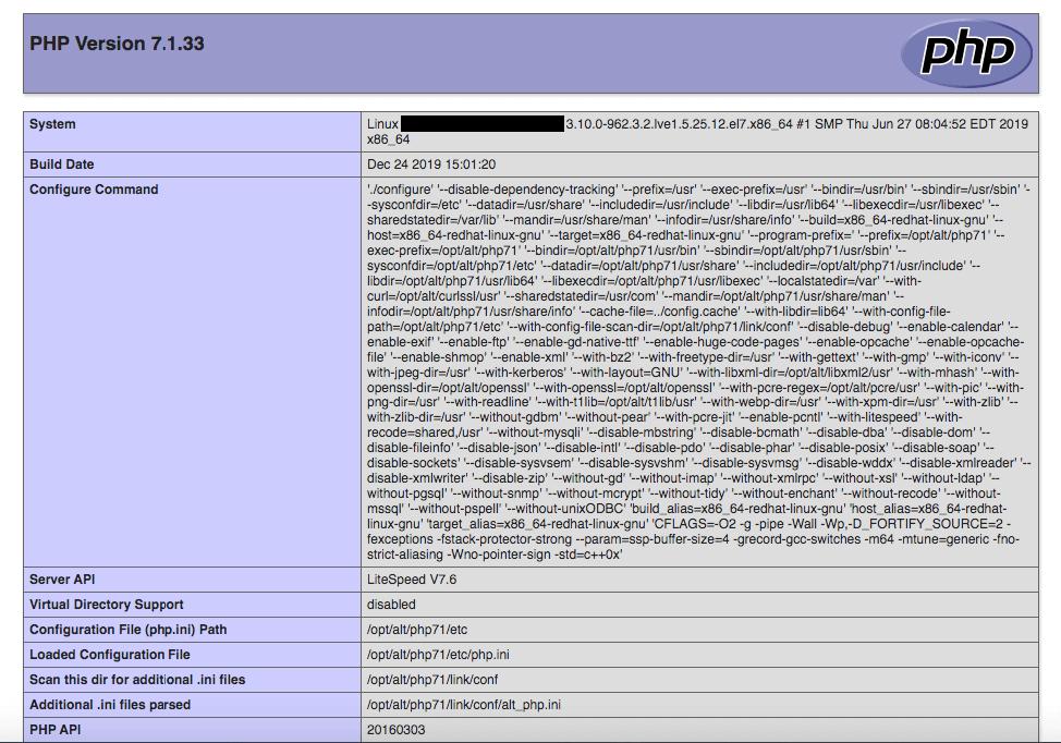 Как узнать версию php на сервере с ubuntu, debian, centos