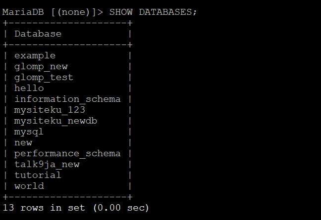 Как создать базу данных mysql для сайта — Просматриваем все бд на MySQL-сервере