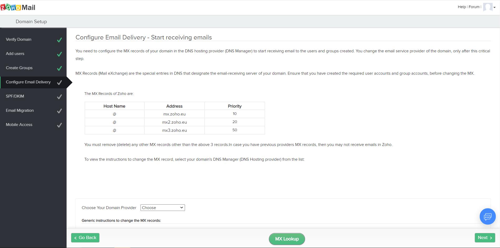 Как создать почтовый ящик на домене. Проверка созданных MX-записей.