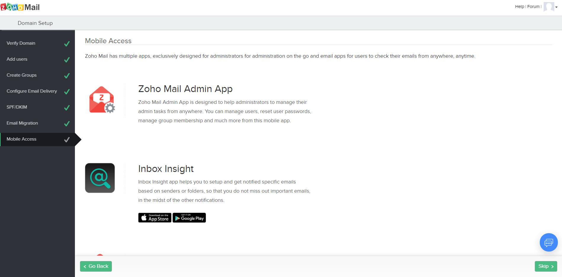 Как создать почту для организации. Страница с приложениями для работы с почтой.