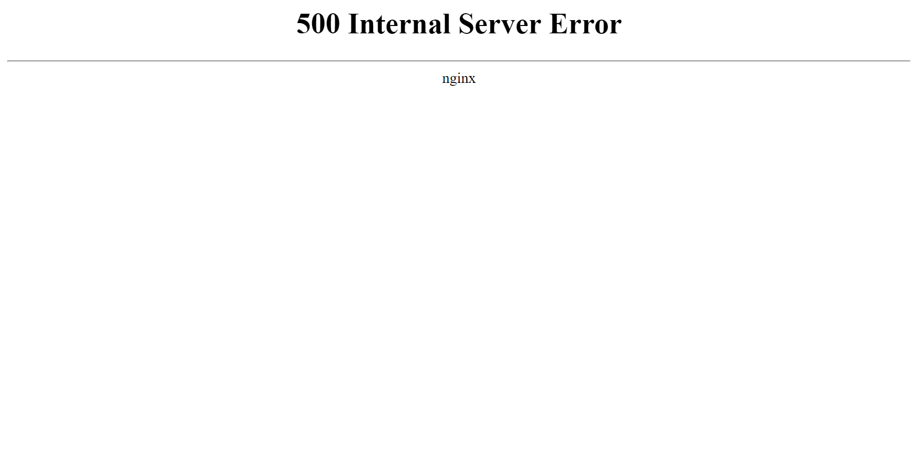 Ошибка 500 Internal Server Error на сервере с Nginx